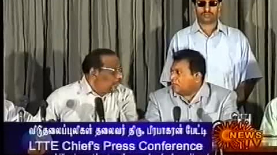 Tamil Leader Hon. V. Prabhakaran Press Conference at Killinochi 2002 part 2