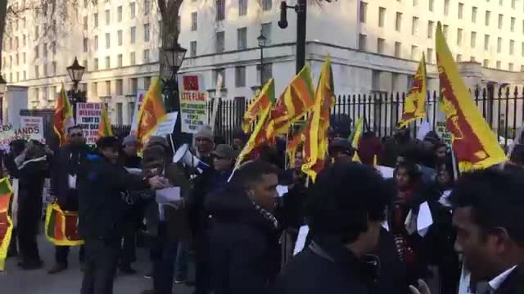 Sinhalese Mobs Protesting in UK in Support of Sri Lankan Genocidal Government - 2008