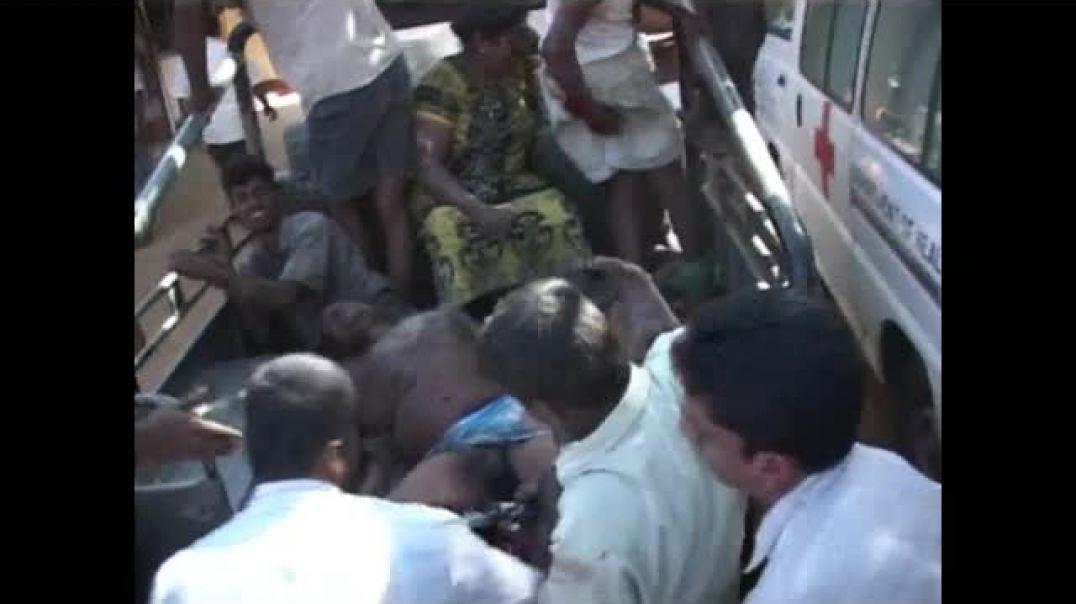 1-1-2009 Sri Lanka aerial bombing   Tamil victims in Vanni