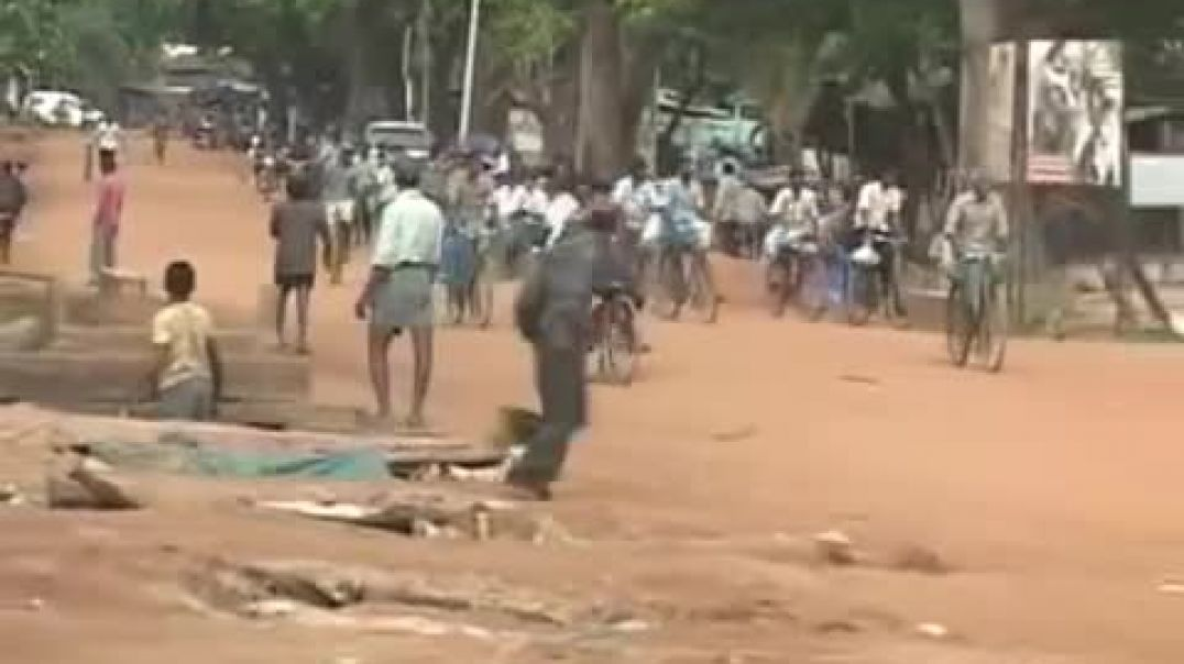 Sri Lankan army's artillery shell attack on tamil refugees
