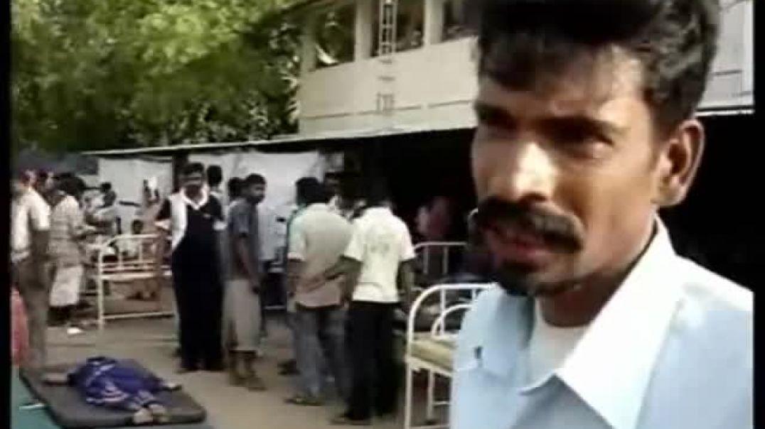24-1-2009 Sri lanka Army Bombed Saftey Zone   Please Stop the War   Tamil genocide   tamil massacre