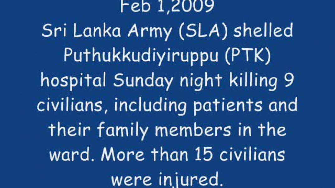 2-2-2009  Vanni Sri lanka shelled Civilian Hospital  Stop the WAR